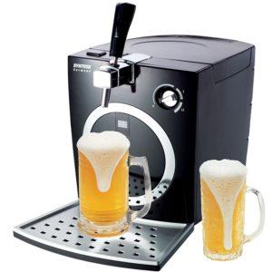 zapfanlage mit frischem bier